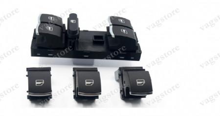 Set Butoane Geamuri Electrice insertie Crom pentru VW Golf 5 6 Jetta Touran Tiguan