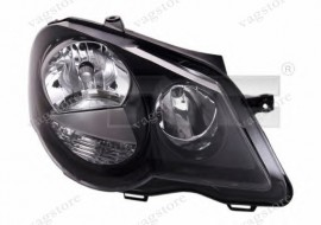 Far Polo 9N3 GTI negru Dreapta