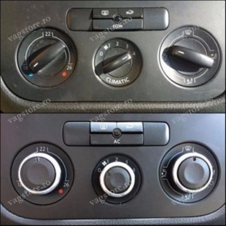 Set Butoane ornament Crom pentru panou Aer Conditionat climatic VW