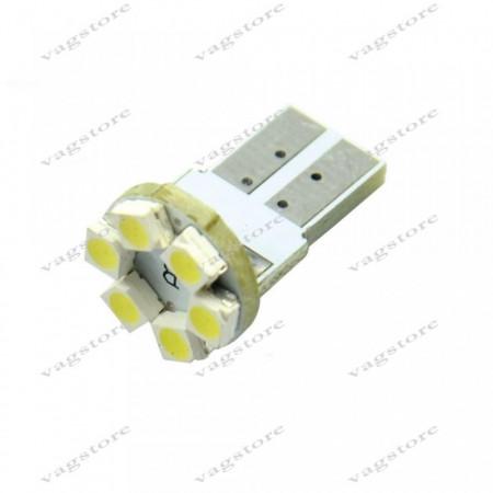 Bec led T10 / W5W / 194 6 leduri SMD 1210 Alb 6000K