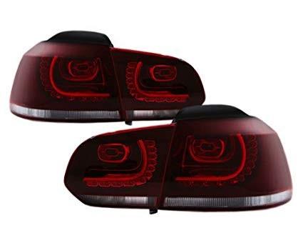 Stopuri LED VW Golf 6 VI MK6 LED R-look Rosu Inchis / Cherry Red semnalizare secventiala - Dynamic Light