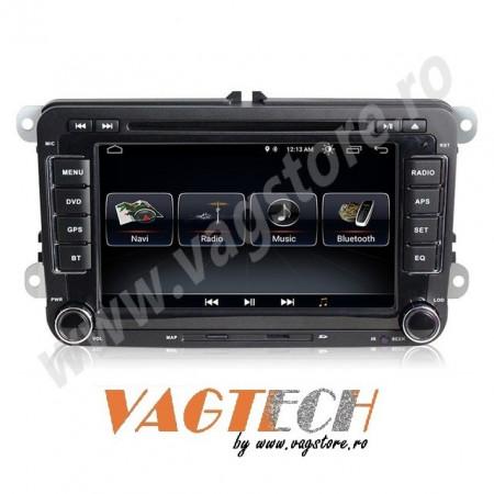 Navigatie V510S Android 9.1 2Gb RAM memorie interna 32Gb WIFI USB GPS pentru VW CC Touran Tiguan