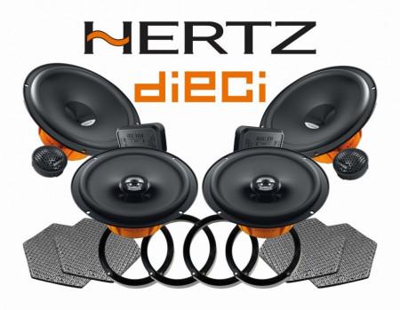 Sound upgrade Hertz Dieci Skoda Octavia 3 5E