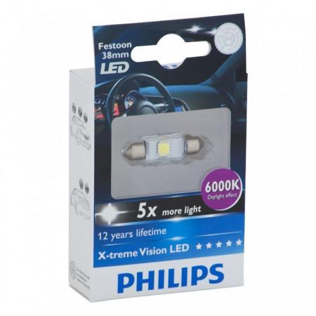 Bec Led C5W Festoon 38mm Philips 6000k