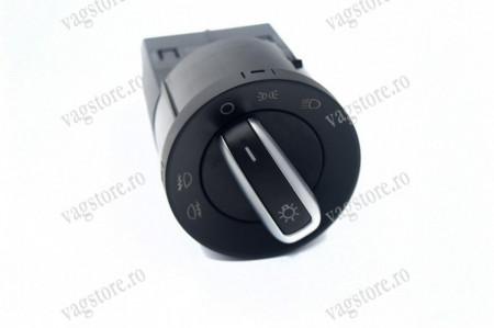 Comutator Bloc buton Lumini Aluminiu cu Proiectoare VW Golf 4 Polo 9N