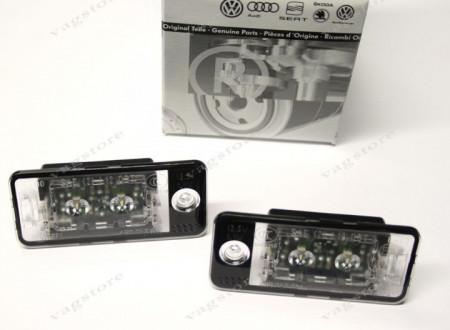 Set lumini numar inmatriculare LED Audi A3 / A4 / A5 / A6 / Q7