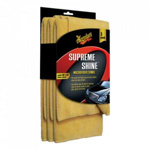 Laveta Microfibra Meguiars Supreme Shine - Set 3 bucati