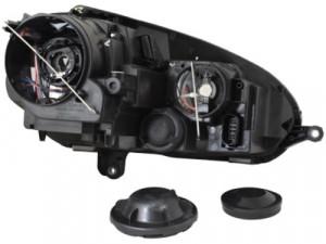 Set Faruri cu Lupa VW Golf 5 V / Jetta MK5 GTI Look Negru