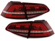 Stopuri LED VW Golf 7 VII MK7 LED R-look Rosu Inchis / Cherry Red semnalizare secventiala - Dynamic Light