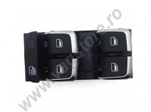 Comutator comanda butoane actionare geamuri electrice varianta crom Audi