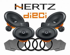 Pachetul dedifuzoare auto Hertz Dieci este compatibil VW Golf / Jetta / MK5 / MK6