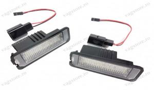 Set 2 lampi led 6000k Canbus numar inmatriculare VW