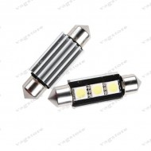 Bec led auto sofit / festoon (C5W) 36mm 3 SMD 5050 CANBUS alb 6000K Lampa numar VW Audi Skoda Seat
