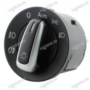 Comutator Bloc buton Lumini cu Insertie Aluminiu Functie Auto VW Touran Caddy Sharan