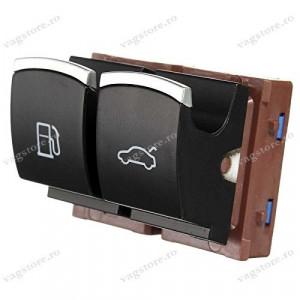 Consola 2 butoane actionare capac rezervor si capota portbagaj crom VW Passat B6