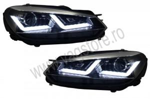 Faruri Osram LED compatibil cu VW Golf 6 cu semnalizare dinamica