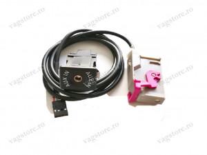 Interfata audio auxiliar cu conector Jack 3.5mm pentru RNS-E Audi.