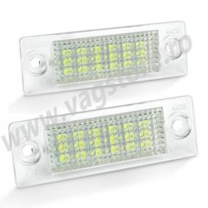 Set 2 lampi led 6000k Canbus / fara eroare numar inmatriculare VW Golf 5 / Passat Combi / Jetta MK5 / Caddy