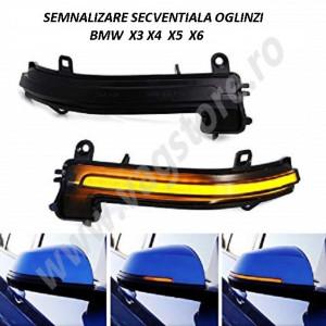 Kit RETROFIT Lumini secventiale semnalizare in oglinda pentru BMW X3 X4 X5 X6