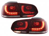Stopuri LED VW Golf 6 VI MK6 LED R-look Rosu/Clar