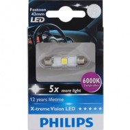 Bec Led C5W Festoon 43mm Philips 6000k