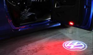 Set Lampi lumini avertizare portiera deschisa cu proiectare Logo VW