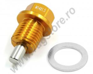 Surub magnetic M14 X 1.5 pentru golire baie ulei cu garnitura metalica