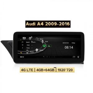 Unitate multimedia cu Android 10 WIFI Bluetooth 4G si GPS pentru Audi A4 B8