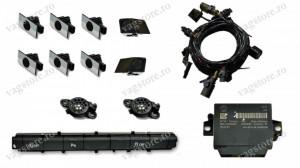 Kit Retrofit Original Senzori parcare Audi Parking System Fata Spate AUDI A6 4G0 cu buton 4G0927137K si 2 senzori Negru lucios