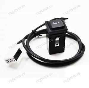 Buton si cablaj AUX / Audio input auxiliar VW RCD / RNS