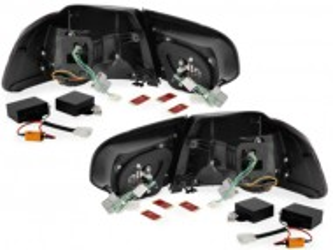 Stopuri LED VW Golf 6 VI MK6 LED R-look Rosu/Clar