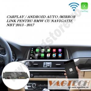 Retrofit CARPLAY ANDROID AUTO MIRRORLINK si Camera marsarier pentru BMW NBT