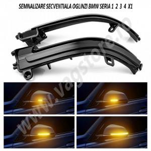 Kit RETROFIT Lumini secventiale semnalizare in oglinda pentru BMW Seria 1 2 3 4 X1