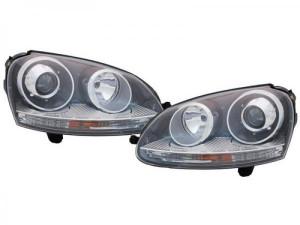 Set Faruri cu Lupa Golf 5 Jetta Mk5 Versiune GTI