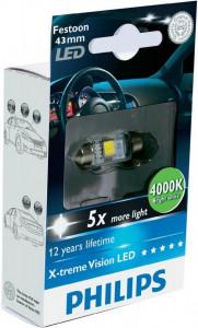 Bec Led C5W Festoon 43mm Philips 4000k