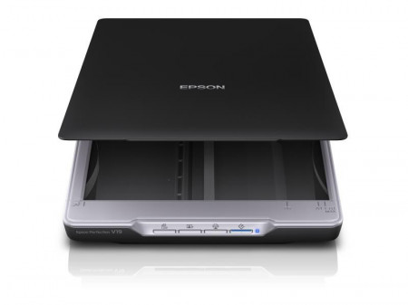 Scanner Epson Perfection V19, dimensiune A4, tip flatbed, rezolutie optica 4800x4800dpi, senzor CIS, software : Epson Copy Utility, Epson Document Capture Pro (Windows only), Epson Scan, interfata: USB 2.0.