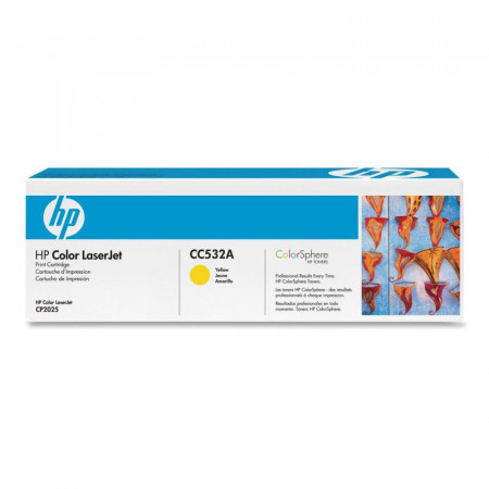 Toner HP CC532A, yellow, 2.8 k, Color LaserJet CM2320FXIMFP,Color LaserJet CM2320NFMFP, Color LaserJet CP2025, Color LaserJetCP2025DN, Color LaserJet CP2025N
