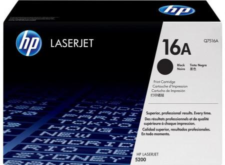 Toner HP Q7516A, black, 12 k, LaserJet 5200
