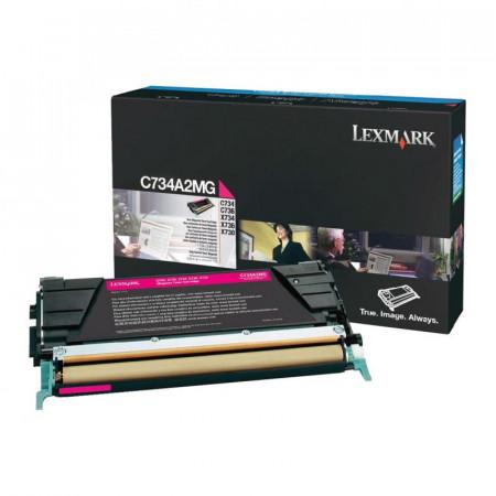 Toner Lexmark C734A2MG, magenta, 6 k, C734dn , C734dtn , C734dw ,C734n , C736dn , C736dtn , C736n , X734de , X736de , X738de , X738dte