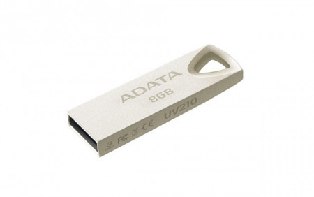 USB Flash Drive ADATA 8Gb, UV210, USB2.0, metalic