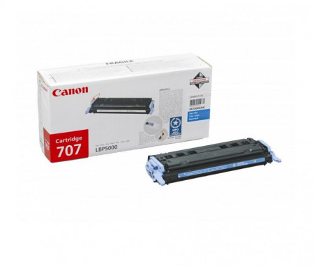 Toner Canon CRG707C, cyan, capacitate 2000 pagini, pentru LBP-5000