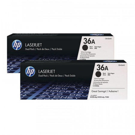 Toner HP CB436AD, black, pachet dublu CB436A, LaserJet P1505