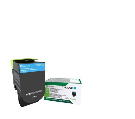 Toner Lexmark 71B20C0, cyan ,return program ,2.3k,CX317DN/417DE, CS317DN/417DN/