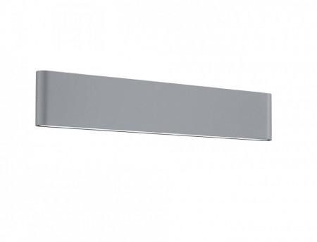 Aplica LED integrat pentru exterior Trio Thames II, 2x8W, 230V, lumina calda 3000K, 2x 800 lumeni, durata de viata 30.000 de ore, clasa energetica A+, IP54, dimensiuni 46x9cm, material fonta aluminiu, culoare titaniu
