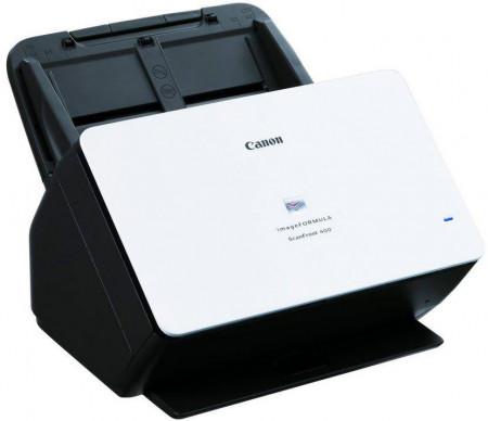 Scanner Canon ScanFront400, dimensiune A4, tip sheetfed, viteza de scanare 45ppm alb-negru si color, rezolutie optica 600dpi, senzor CIS, TIFF, JPEG, PNG, PDF, PDF/A, Toolkit pentru aplicaţii Web (SDK)1 pentru instrumentul de administrare ScanFront inter