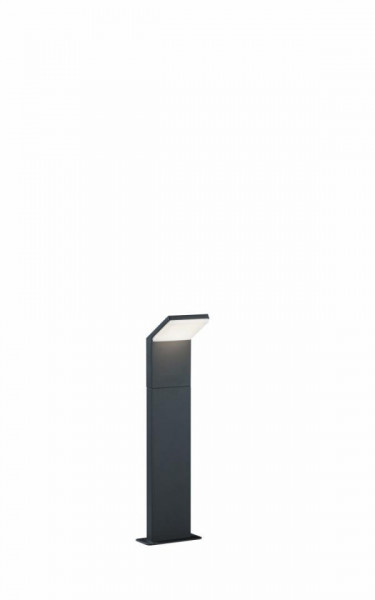 Stalp LED integrat pentru exterior Trio Pearl, 9W, 230V, lumina clada 3000K, 900 lumeni, durata de viata 25.000 de ore, clasa energetica A, IP54, dimensiuni 50x14cm, material fonta aluminiu/ plastic, culoare antracit/ alb