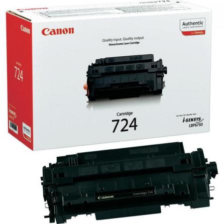 Toner Canon CRG724, black, capacitate 6000 pagini, pentru LBP6750dn