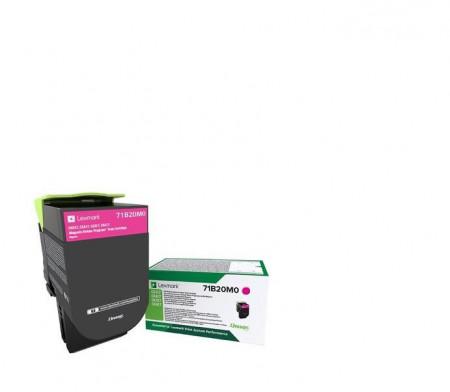 Toner Lexmark 71B20M0, magenta ,return program ,2.3k,CX317DN/417DE, CS317DN/417DN/