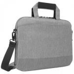 """Geanta notebook Targus, up to 14"""", Material: 300D, Slim and lightweight laptop shoulder bag perfect for protecting your tech on-the-go, Spacious main compartment with room for additional notebooks or paperwork, Front accessory pocket, Grey"""