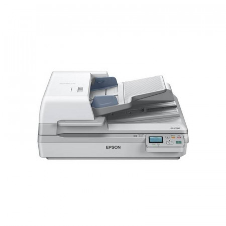 Scanner Epson DS-60000N, dimensiune A3, tip flatbed, viteza scanare: 40ppm alb-negru si color, rezolutie optica 600x600dpi, ADF 200 pagini, Scan to Email, Scan to FTP, Scan to Microsoft SharePoint, Scan to Print, Scan to Web folders, Scan to Network folde